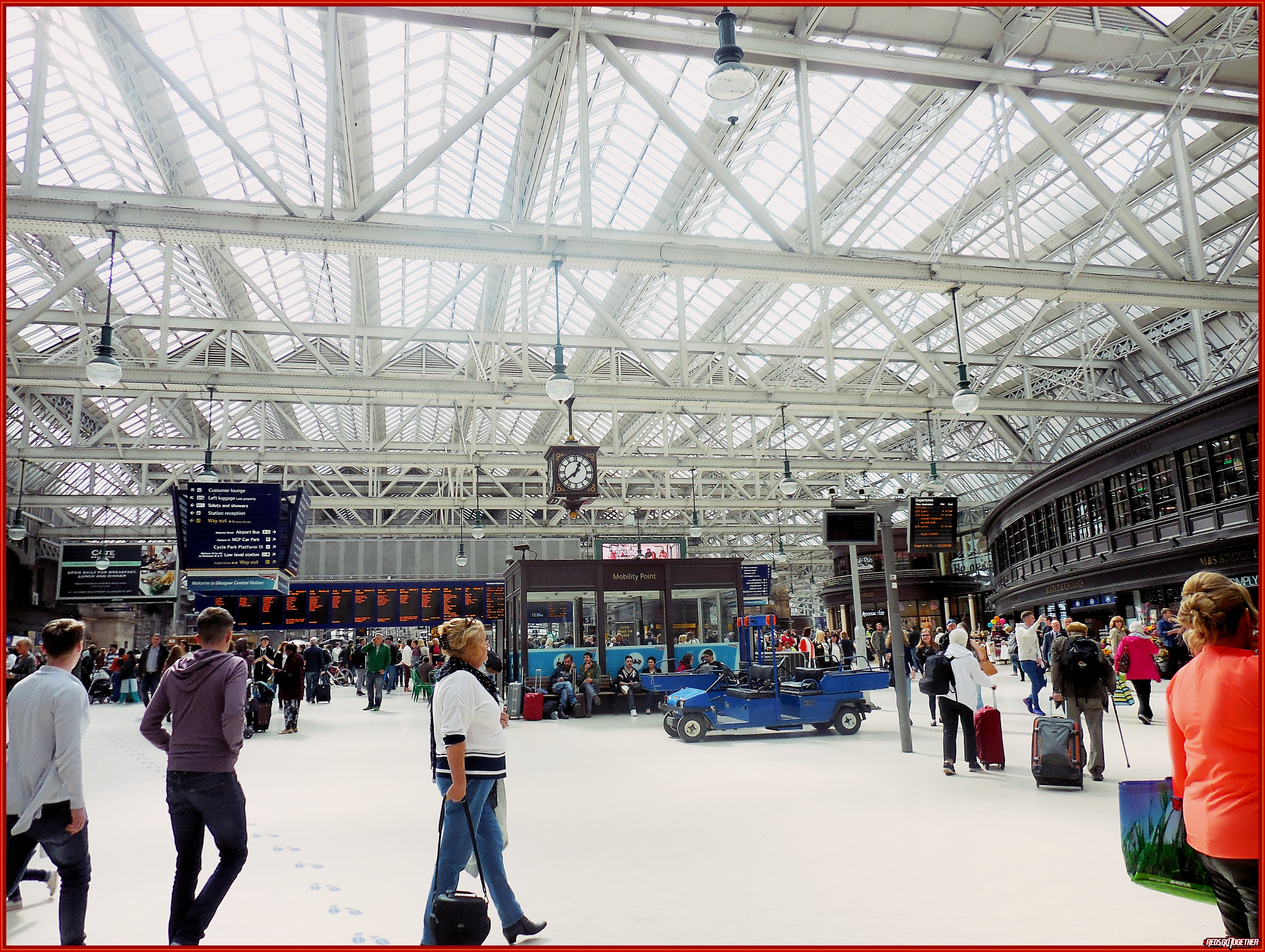 This is the main train station in Glasgow.  So many hearts have been broken under that clock.  Before cell phones we had to have a meeting place for dates.