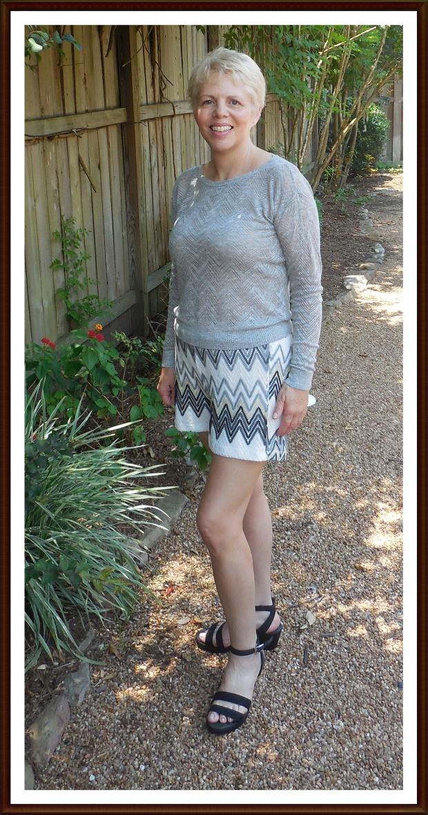 chevron shorts gray2