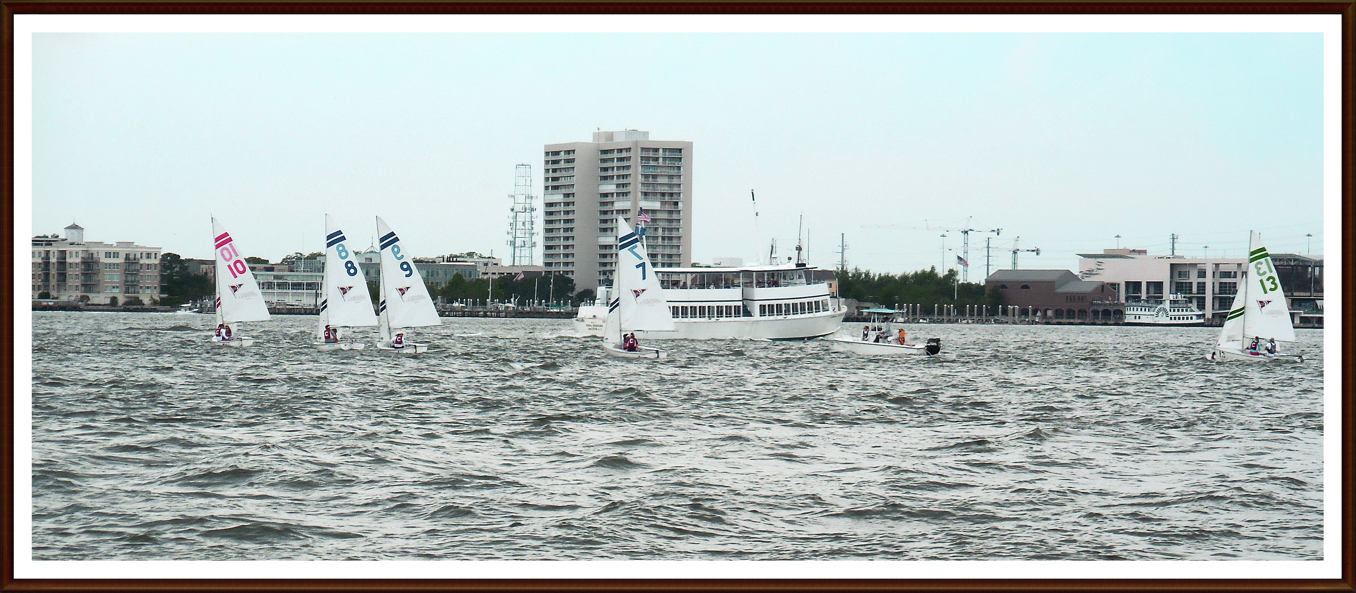 Look at the sailboat on the right...