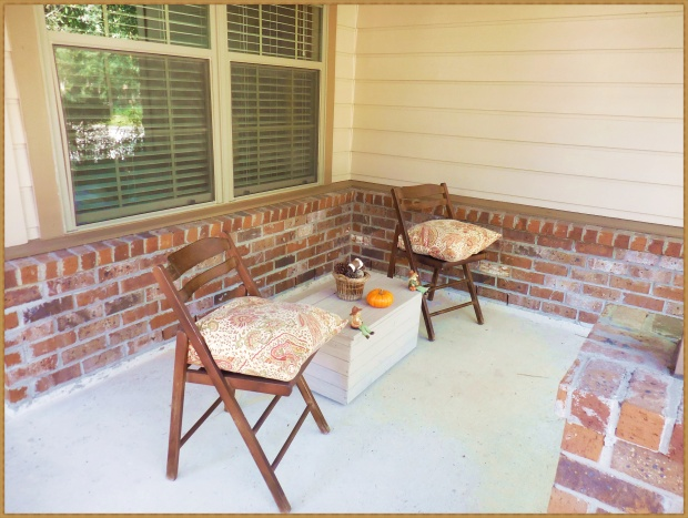Redecorated porch